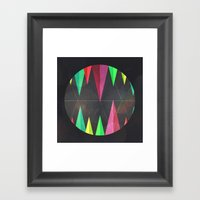 Wood Teeth Framed Art Print