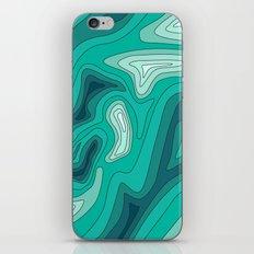 ocean dephts map iPhone & iPod Skin