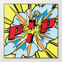 Firecracker POP Art Canvas Print