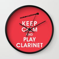 Keep Calm And Play Clari… Wall Clock
