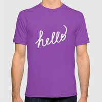 Hello! Mens Fitted Tee Ultraviolet SMALL