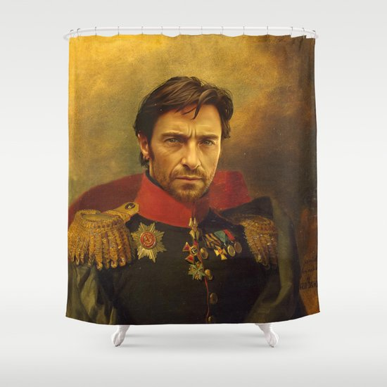 Hugh Jackman - replaceface Shower Curtain