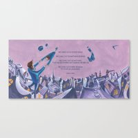 POEM OF FLING Canvas Print