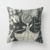 Little Goddess Throw Pillow