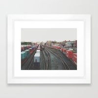 Tracks, Vancouver, BC, Canada  Framed Art Print