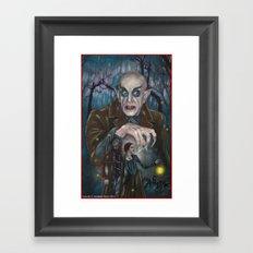 Nosferatu Deathbird Framed Art Print