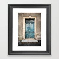 Porte N°372 Framed Art Print