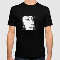 Queen Anne Boleyn Portra… Mens Fitted Tee Black SMALL