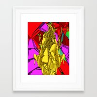 AUTOMATIC WORM 4 Framed Art Print