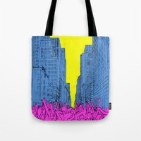 living for the city Tote Bag