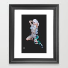 Isis - grey Framed Art Print