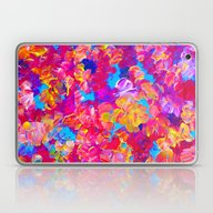 FLORAL FANTASY Bold Abst… Laptop & iPad Skin