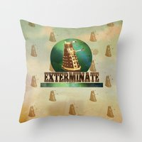 Doctor Who: Dalek Print Throw Pillow