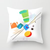 Rocko's Modern Art Throw Pillow