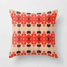 Red pattern rouge 6 Throw Pillow