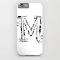 Typographic M Letter iPhone 6 Slim Case