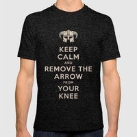 Keep Calm And Remove The… Mens Fitted Tee Tri-Black SMALL
