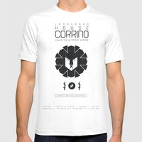 HOUSE CORRINO Mens Fitted Tee White SMALL