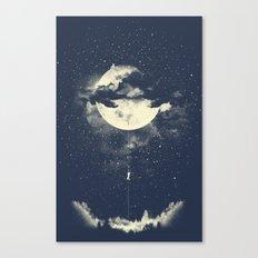 MOON CLIMBING Canvas Print
