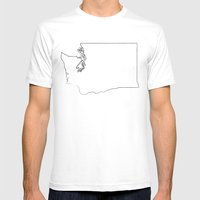SEATTLE WASHINGTON//THRE… Mens Fitted Tee White SMALL