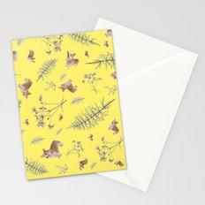 yellow corgi holidays and twigs Stationery Cards