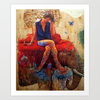 Lu Art Print