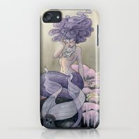 iPod Touch Cases featuring Lavender Mermaid by Renee Nault