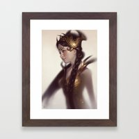Braids Framed Art Print