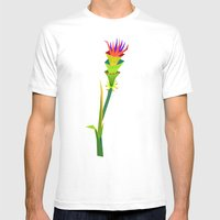 Tropical Flower2 Mens Fitted Tee White SMALL