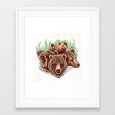 Four Bears Framed Art Print