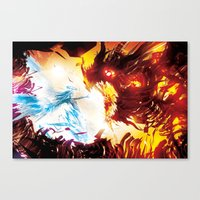 A Dragon Taught me Fire Canvas Print