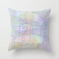Words And Water Paint Throw Pillow