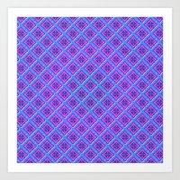 Purple Pillow Puffs Patt… Art Print