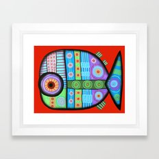 Fish which ate ship Framed Art Print