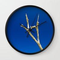 Soaring High In Blue Ski… Wall Clock
