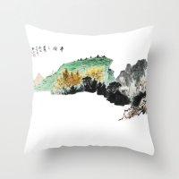 Spring of Pin-Din Throw Pillow
