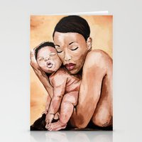 Mother and baby.  Stationery Cards