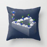 Lem C. Escher Throw Pillow