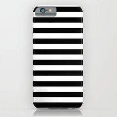 Modern Black White Stripes Monochrome Pattern iPhone 6s Slim Case