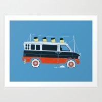 The Titanic Van Sinks Art Print