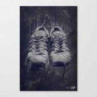 DARK SHOES Canvas Print