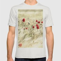 A POPPY  POEM Mens Fitted Tee Silver SMALL