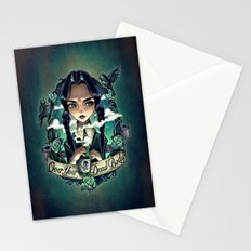 OVER YOUR DEAD BODY Stationery Cards