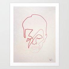One Line Aladdin Sane Art Print