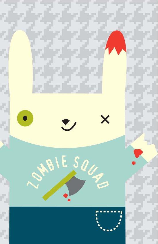 Zombie Bunny Patrol Art Print