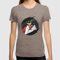 Poe Dameron Womens Fitted Tee Tri-Coffee SMALL