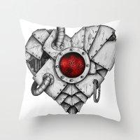 Heart - Mech Throw Pillow