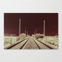 Dawn of the Rails Canvas Print
