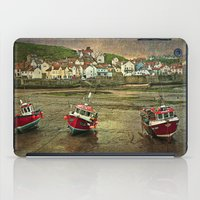Three Red Boats at Staithes iPad Case