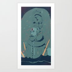 The King of Antartica Art Print
